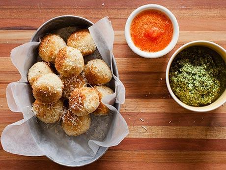 Recipe: Italian Rice Balls with Red Pepper Oil