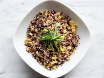 Recipe: Eggplant and Onion Fried Wild Rice