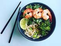 Athlete Food: Citrus Shrimp Noodle Bowl
