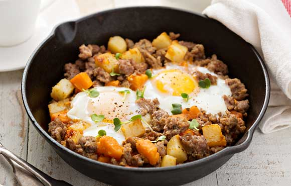 If You Dont Mind Doing A Little Prep In The Kitchen Before Leave Home This Hearty Breakfast Recipe Can All Be Cooked Single Skillet On Grill