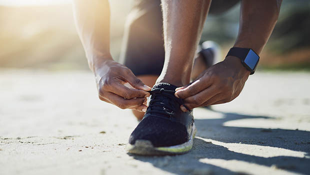 runner tying sheos