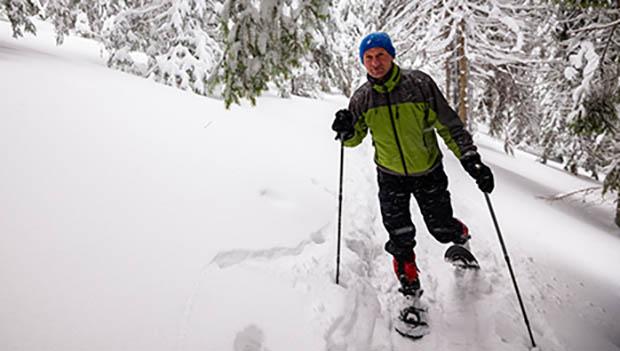 snowshoe running