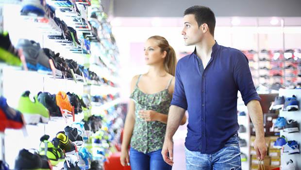 running shoe store