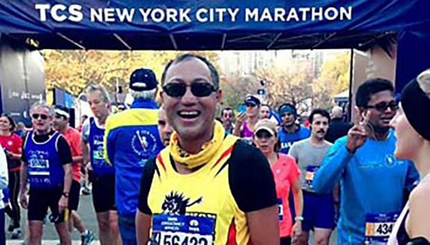 Gabriel at NYC Marathon