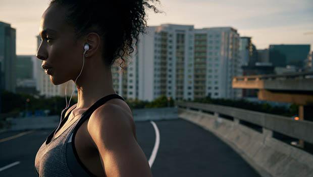 runner with headphones