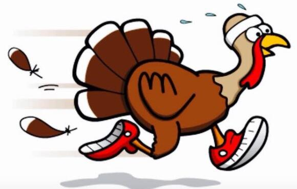 the best turkey trots to run this thanksgiving active rh active com funny running turkey clipart Thanksgiving Turkey Clip Art