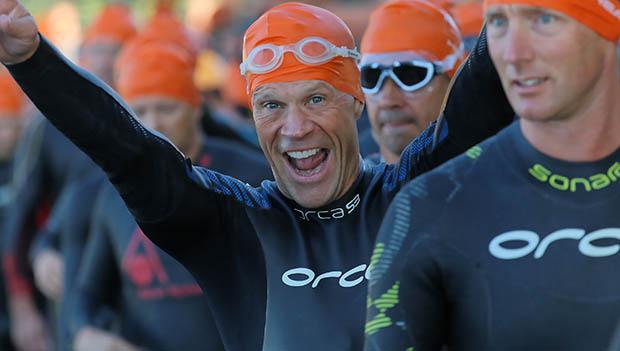 happy triathlete