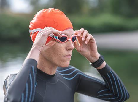 Triathlete+swimming front