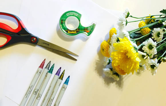 Kids Craft Ideas: Custom Bouquet Wrap